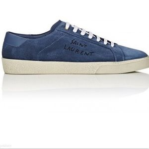 Saint Laurent Blue Suede Court Classic